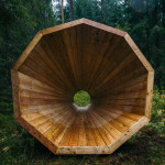 estonian-students-forest-megaphones-library-rooms-voru-county-designboom-07